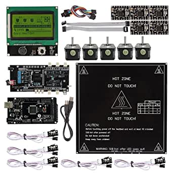 sainsmart ultimaker 1 5 7 a4988 mega2560 r3 lcd12864 3d kit de contr le de l 39 imprimante. Black Bedroom Furniture Sets. Home Design Ideas