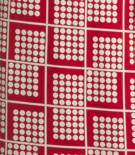 Nanso robe lotto robe en jersey longueur :  90 cm-taille s m l xL xXL - Rot-Naturweiss