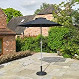Kingfisher 2m Black Aluminium Parasol with Tilt Mechanism