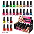 24 x NAIL POLISH VARNISH SET 24 DIFFERENT STANDARD COLOURS WHOLESALE BEST GIFT