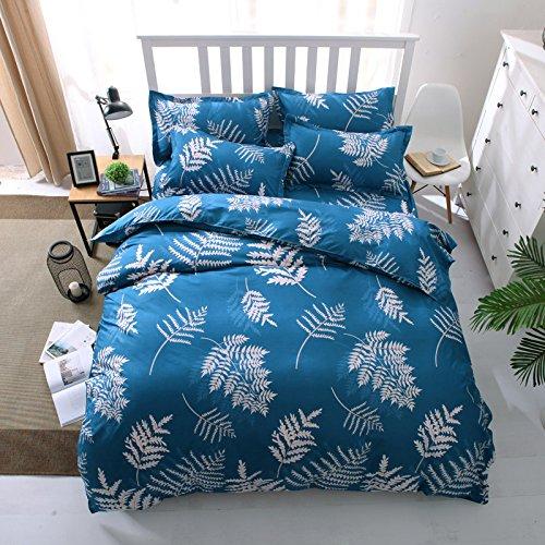 XYY König-Königin-Bettwäsche-Abdeckungs-Bettwäsche-Schlafzimmer-Ausgangs4pcs Quilt Abdeckungs-Bett-Blatt und Kissenbezug, 3 (Sham-bett-satz)