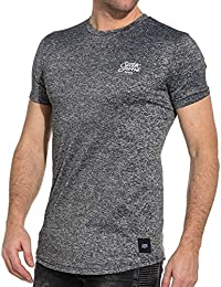 Sixth June Tee-Shirt Homme Stretch Gris Chiné
