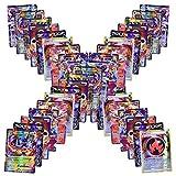 Flyglobal Jeux De Cartes 100 Pcs Pokemon Style Cartes Pokemon EX et GX Full Art 59 Cartes EX 20 Cartes Mega EX 20 Cartes GX 1 Énergie Carte Puzzle Jeu De Cartes Amusant de Pokemon