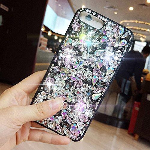 Custodia per iPhone 7 Plus/iPhone 8 Plus (5.5), EUWLY Bling Glitter Strass Silicone Custodia per iPhone 7 Plus/iPhone 8 Plus (5.5), Lusso Brillante Big Diamante Coperture Protettiva TPU Custodia Cas Glitter Strass, Colorato