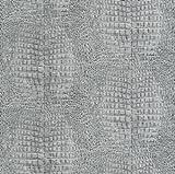African Queen Vliestapete Afrika Tapete 422528 Krokodil Reptil grau silber