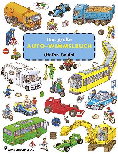 Das große Auto Wimmelbuch: Fahrzeuge Kinderbücher ab 2 Jahre mit fortlaufenden Geschichten