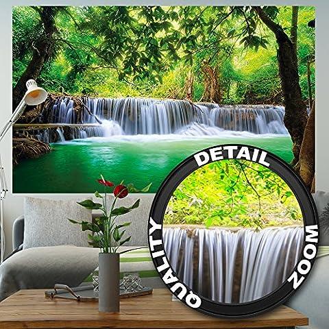 Affiche Cascade Feng Shui - Décoration murale vacance paradisiaque dans