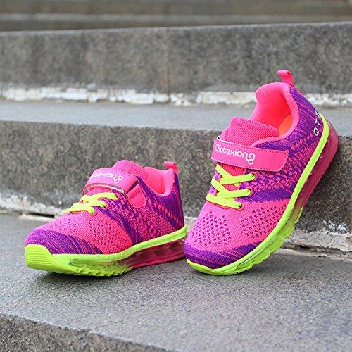 Unisex Bambini Scarpe da Ginnastica Basse Corsa Sportive Running Sneakers Ragazzi Ragazze Rosa