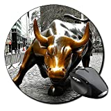 Toro De Wall Street Charging Bull Nueva York New York City Ny Manhattan Tapis De Souris Ronde Round Mousepad PC