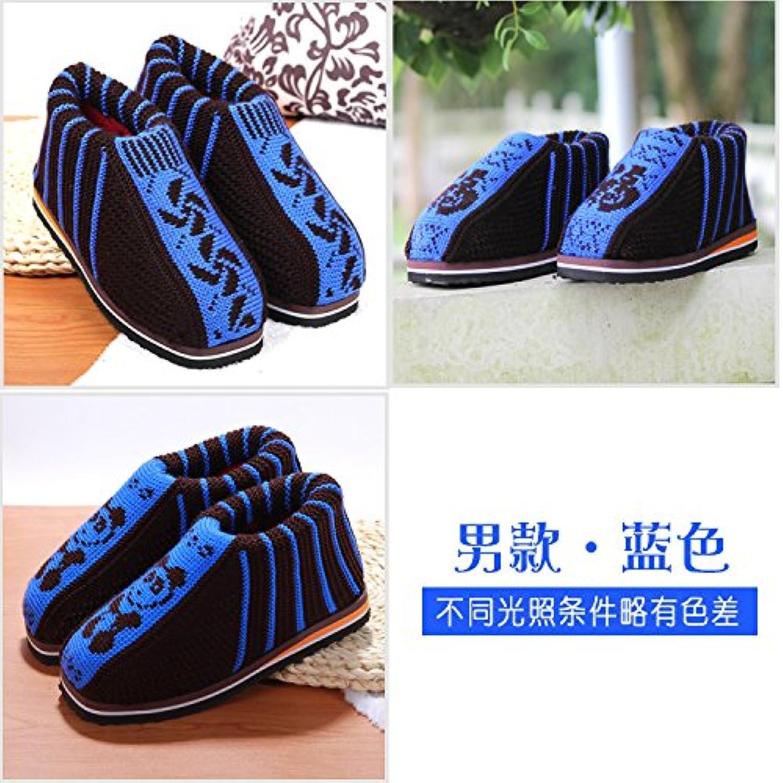 LaxBa  Invierno patinar en zapatillas piel falsa nieve forrada caliente Zapatos para hombres azul44/45 (generalmente...