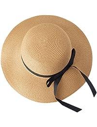 TYGRR Estate All aperto Cappello da Sole La Signora Cappello Pieghevole  Grande Turismo Cappello di Paglia Il Cappello A Tesa Vacanza al… 2d077396f89b