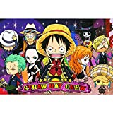 Jigsaw Puzzle Poster One Piece, Puzzle in Legno, Cartone Animato Giapponese One Piece, Pezzo 300/500/1000 P715 (Color : A, Size : 500pc)