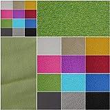 Verdunklungsstoff, blickdicht – Meterware ab 50cm in 9 Unifarben. 100% Polyester - schwere Qualität - Thermo-Rückseite - Textiloberfläche- waschbar | Blackout – für Vorhänge und Raumtrenner (grün)