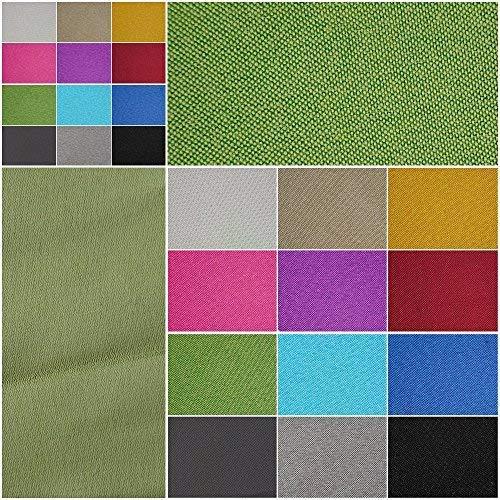 Verdunklungsstoff, blickdicht – Meterware ab 50cm in 9 Unifarben. 100{f64fb4db339baa3c2ba6b4c059d200ead4860b08d46689580e991c78ae2b0679} Polyester - schwere Qualität - Thermo-Rückseite - Textiloberfläche- waschbar | Blackout – für Vorhänge und Raumtrenner (grün)