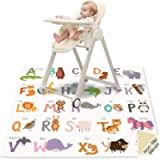 Splat Mat Under High Chair - 51' Floor Protection SI Anti-Slip Waterproof Washable High Chair Mat Multipurpose Table…
