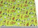 Landschaft Pferde Gras Grün 100% Baumwolle Hochwertiger