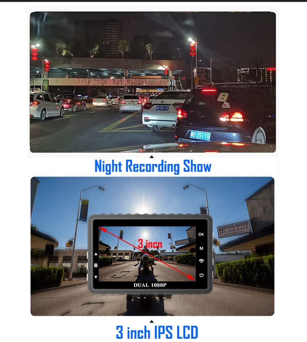 WiFi-Motorrad-Dash-Cam-Full-HD-1080P-140–Doppelobjektiv-30LCD-mit-Nachtsicht-GPS-WDR-Loop-Video-G-Sensor-EIS-Anti-Shake