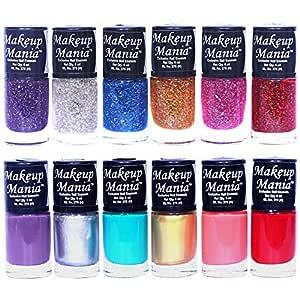 Makeup Mania Nail Polish Set of 12 Pcs, Nail Paint of 6ml each x 12 Pcs, MultiColor Combo Set No.92