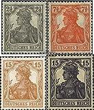 Prophila Deutsches Reich 98-100,101 (kompl.Ausg.) 1916 Germania (Briefmarken für Sammler)