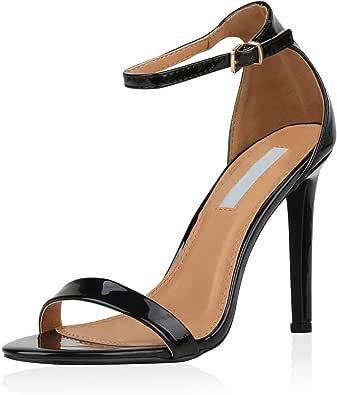 SCARPE VITA Damen Sandaletten High Heels mit Pfennigabsatz
