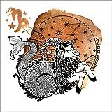 Posterlounge Leinwandbild 120 x 120 cm: Sternzeichen Steinbock von Editors Choice - fertiges Wandbild, Bild auf Keilrahmen, Fertigbild auf Echter Leinwand, Leinwanddruck