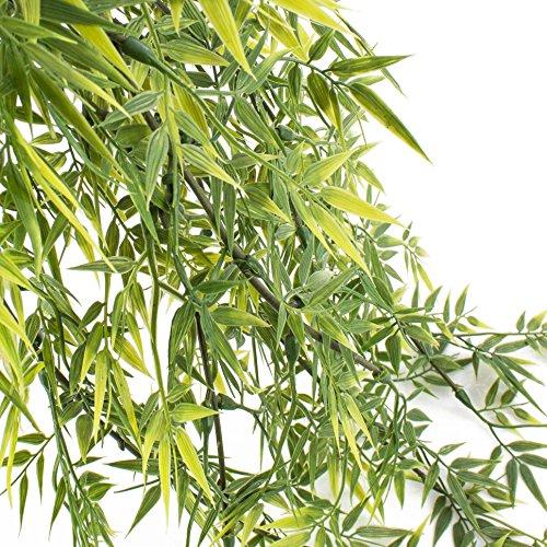 artplants Künstlicher Bambusblatt-Hänger mit 80 Blättern, 60cm, wetterfest – Kunsthänger/Kunstpflanze