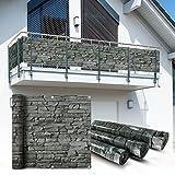 Balkon Sichtschutz 6x0,9m Schiefer Look Balkonsichtschutz Balkonverkleidung Sichtschutzmatte Balkonverkleidung Balkonbespannung