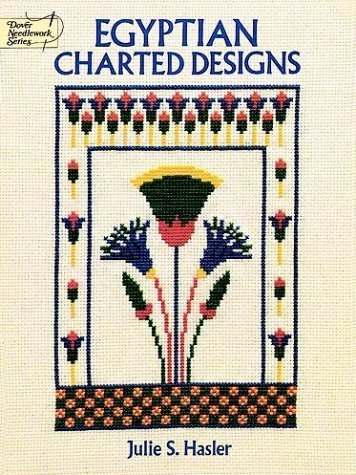 Egyptian Charted Designs (Dover Needlework) by Julie S. Hasler (1992-11-06) thumbnail