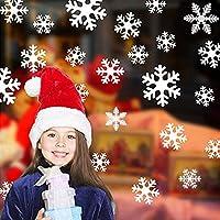Schneeflocken Aufkleber, Wiederverwendbar Fensterbilder Weihnachtsdeko Fensterdeko Abziehbilder Set - Statisch Haftende PVC Aufkleber, schneeflocken deko für weihnachten Winter