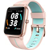 KUNGIX Smartwatch, Reloj Inteligente Impermeable Táctil Completa 5ATM con Podómetro Caloría GPS, Pulsera de Actividad Intelig