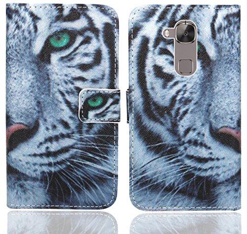 Huawei G8 / GX8 Handy Tasche, FoneExpert® Wallet Case Flip Cover Hüllen Etui Ledertasche Lederhülle Premium Schutzhülle für Huawei G8 / GX8 (Pattern 6)