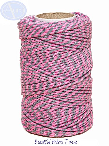 slate-grey-pink-50m-roll-of-bakers-twine-100-cotton-free-shipping