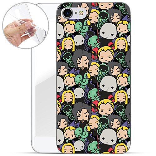 Harry Potter All Serie Silicone Iphone - Case Logo, Iphone 7 Harry Potter Motivo