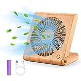 GeeRic Ventilateur de Bureau, Mini USB Ventilateur Pliant Silencieux Ventilateur Portable Rechargeable pour Table PC Maison B