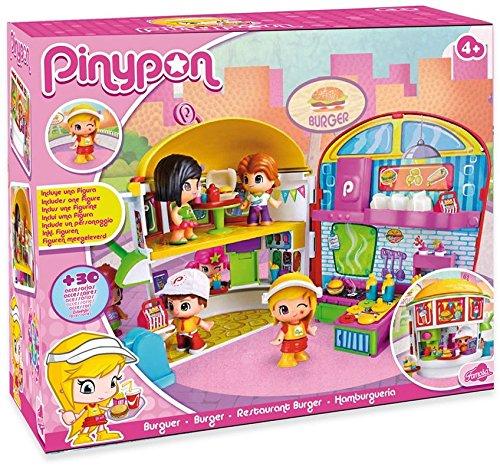 Pinypon - Playset Burger, figuras y accesorios (Famosa 700012063)