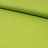 Baumwollstoff mini Sterne limegrün - Preis gilt für 0,5