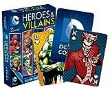 DC Comics, set di carte da gioco con eroi e cattivi, con 52 carte, con Joker (nm) (versione inglese)