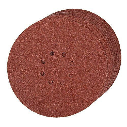 Silverline 274762 Klettschleifscheiben, gelocht, 225 mm, 10er-Pckg. 60er-Körnung