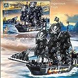 Grande/l Nave Di Pirati Kazi Black Pearl 6 Cifre Mare Caraibico 1184pcs NUOVO #KY87010