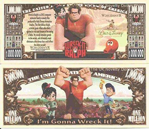 novelty-dollar-wreck-it-ralph-animated-family-comedy-film-million-dollar-bills-x-4-arcade-game