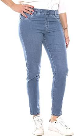 Emanuela Costa Jeans Skinny Donna in Denim Leggero con Elastico Taglia Morbida