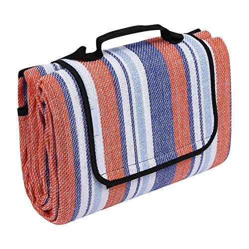 Nisels Picknickdecke Outdoor Campingdecke Wasserdicht Reisedecke Warm Matte Decke für Picknicks Camping Strand Reise mit Tragegriff, 200 x 200 cm Rosa