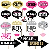 #7: Party Propz™ Bachelorette theme Photo props set of 23 / bachelorette party supplies / photo booth props / wedding props