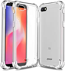 Jkobi Bumper Protection Shockproof Clear Soft Back Case Cover For Xiaomi Redmi 6A -Transparent