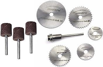 Digital Craft HSS Circular Wood Cutting Saw Blade Discs Rotary Tool Mandrel(6 Pcs)