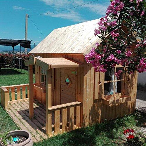 Italfrom casette di legno casetta otto da giardino per bambini in legno d'abete 16mm-3,6mq- 157x233cm
