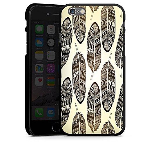 Apple iPhone 5s Housse étui coque protection Ressorts Tribal Indien CasDur noir