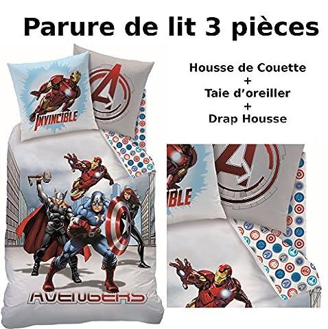 AVENGERS - Parure de lit (3pcs) - Housse de Couette