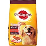 Pedigree Adult Dry Dog Food- Meat & Rice, 1.2kg Pack