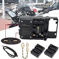 R&P Support de recharge USB pour navigateur ou téléphone portable, pour moto BMW R1200GS, F800GS, ADV, F700GS, R1250GS…